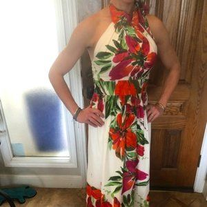 Eliza J Floral Print Maxi Gown (worn once)